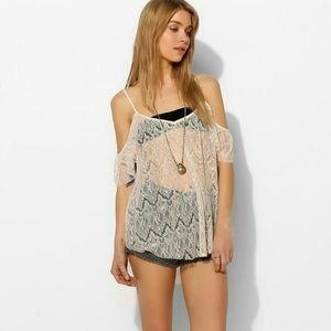 Urban Outfitters Lacy White Top